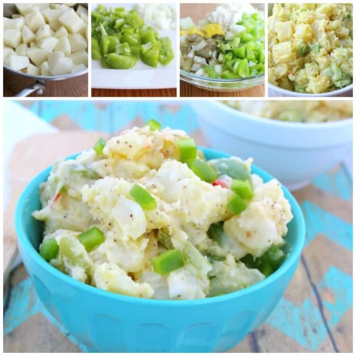 potato salad collage