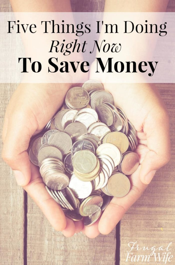 This blogger has some easy ideas to save money right now! I'm definitely going to start using them!