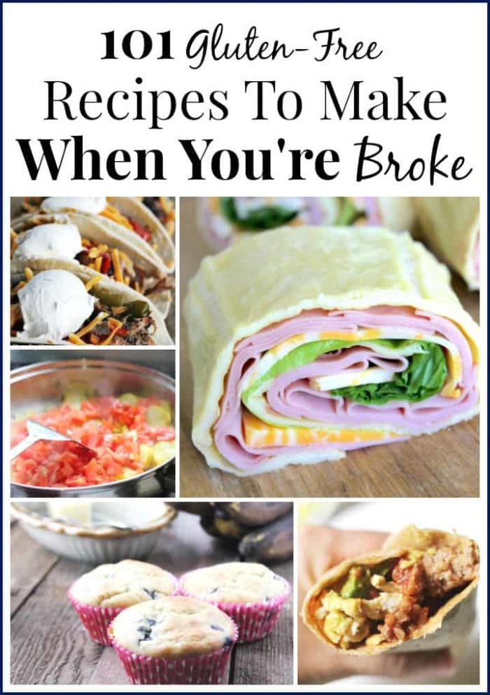These frugal gluten free recipes can be lifesavers when money is tight!