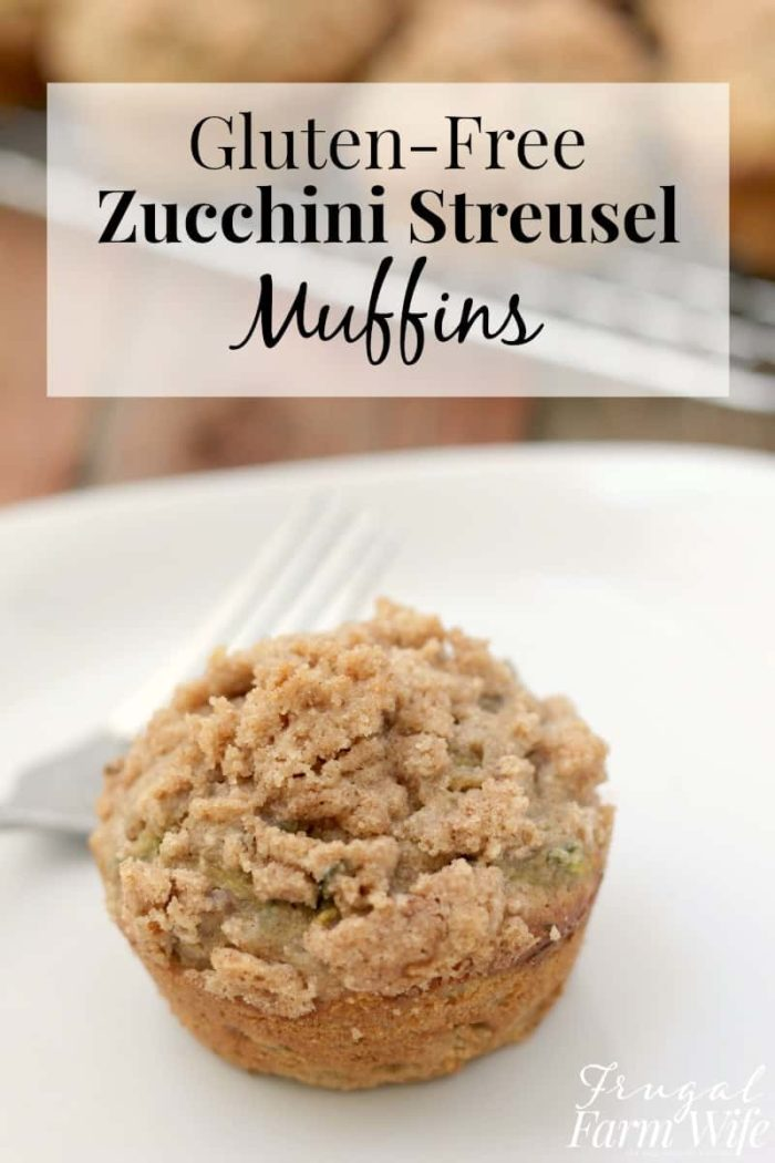 These gluten-free zucchini streusel muffins are so delicious! Your kids won't even know they're gluten-free, and they're easier to serve than zucchini bread!