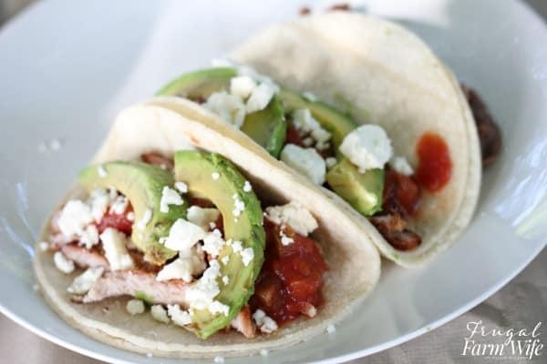 grilled pork tacos wide