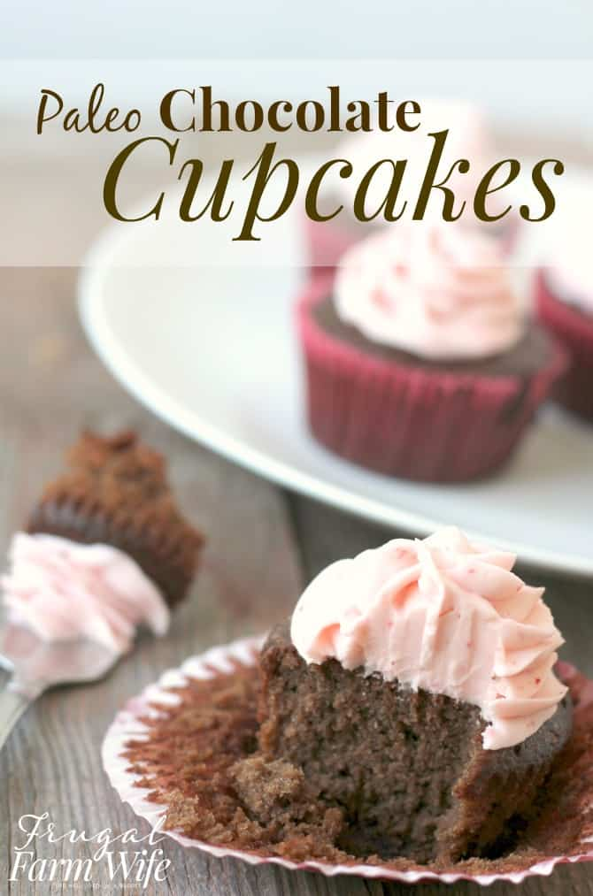 These paleo chocolate cupcakes are the best thing to ever happen to birthday parties! So easy to make, and they're actually kind of good for your!