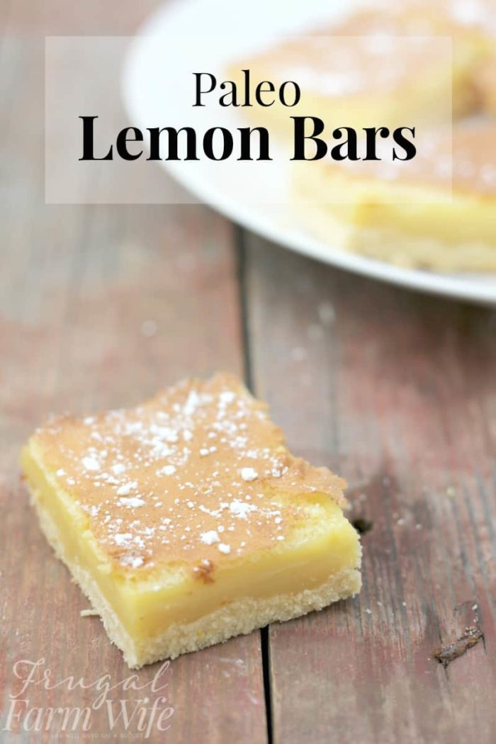 Paleo Lemon Bars Recipe: These paleo lemon bars hit the spot just right - but they're a guilt-free, healthy dessert!