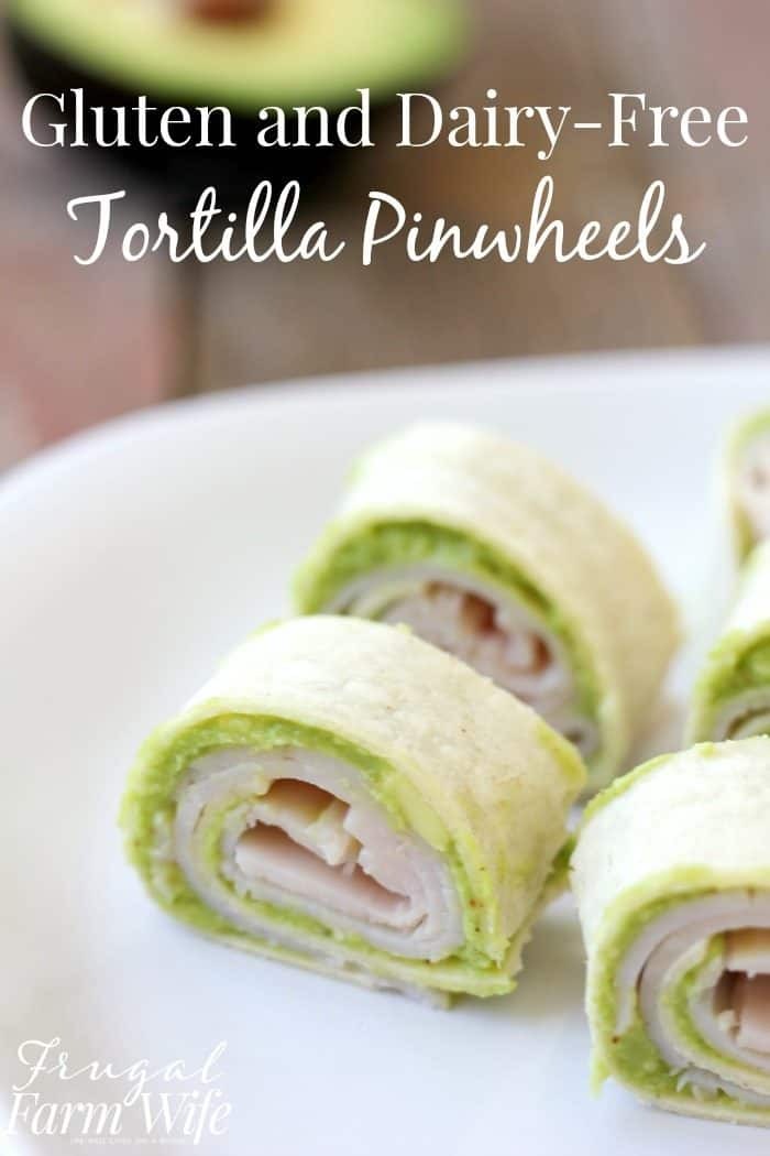 Gluten-Free and Dairy-Free Tortilla Pinwheels are the perfect snack or kids' lunch item!