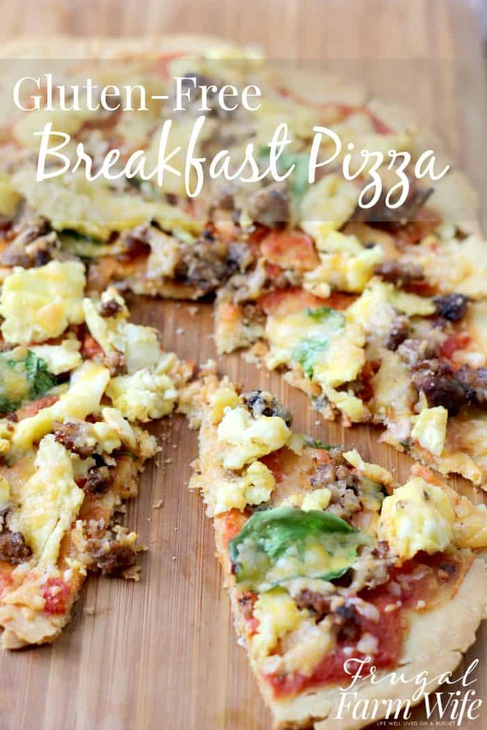This Gluten-Free Breakfast Pizza Recipe is the best thing to ever happen to breakfast! The sauce has just the right amount of tangy salsa, and the kids devoured it!