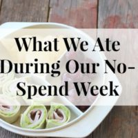 What We Ate During No-Spend Week