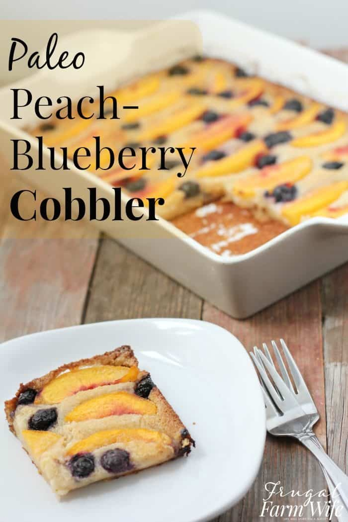Peach cobbler you can feel good about! Not just healthy, but paleo - grain-free!