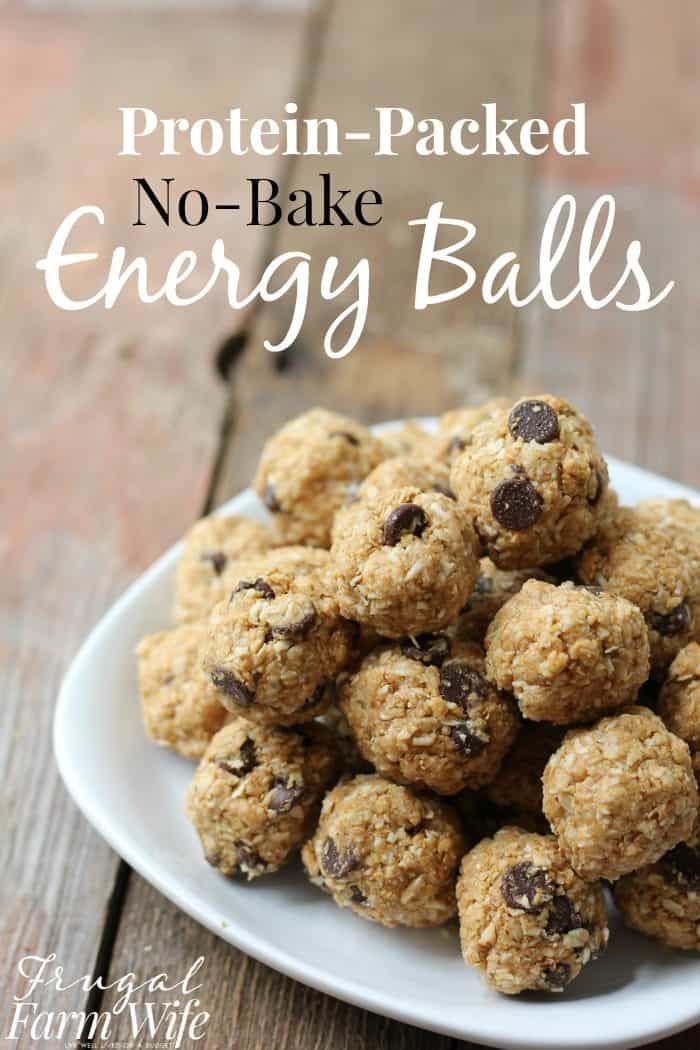 These protein-packed No-Bake Energy Bites are the perfect snack for school lunch boxes and road trips!