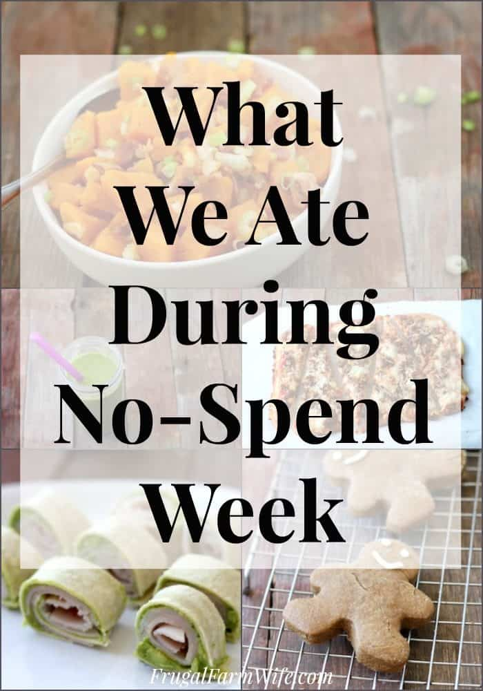 What we ate during out no-spend week. Not everyone will have the same things in their pantry, but this is inspirational!