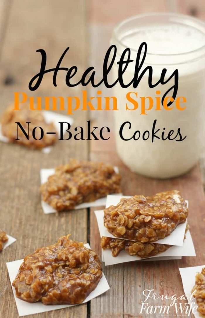 These Healthy Pumpkin Spice No-Bake Cookies are perfect for this fall weather - indulgent, but still good for you!