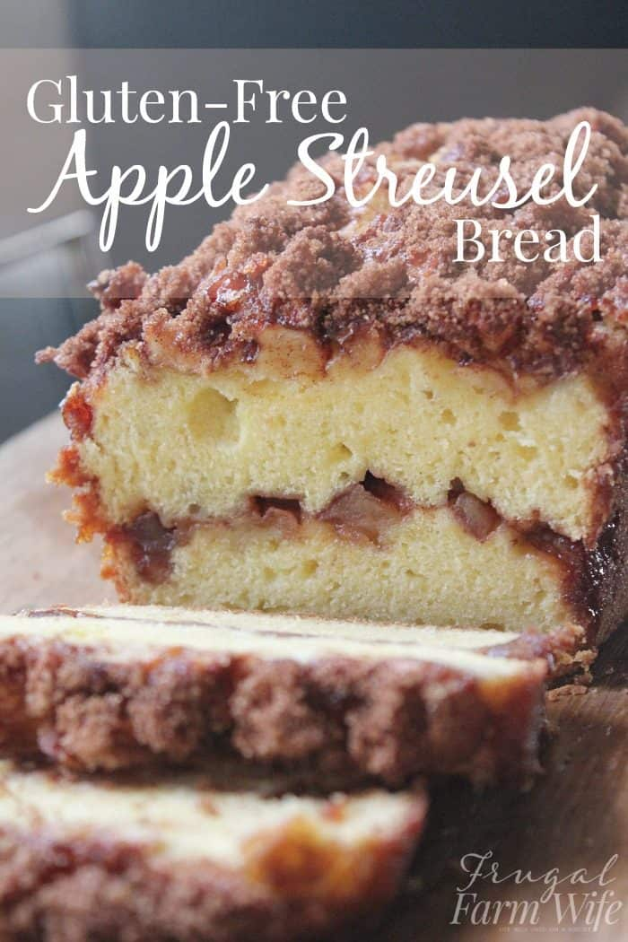 This gluten-free apple streusel bread is perfect with a cup of coffee!
