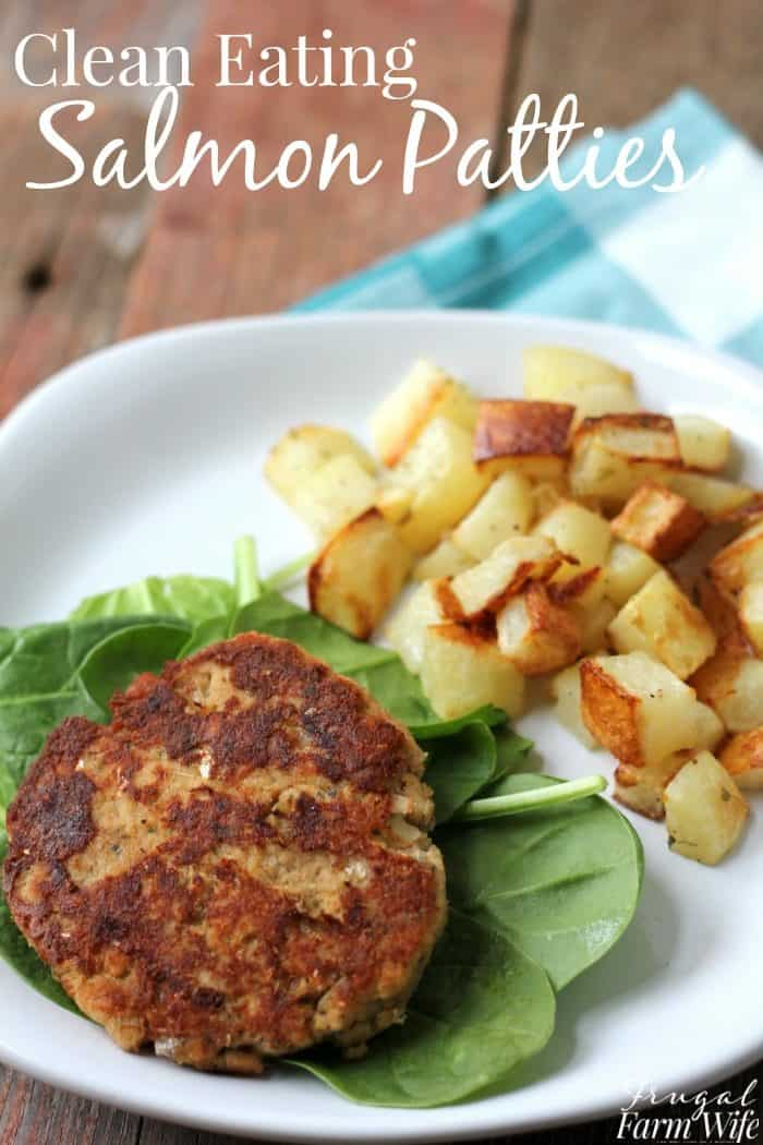 These clean eating salmon patties will knock your socks off! And thanks to replacing the usual crackers with coconut flour, they're almost carb-free!