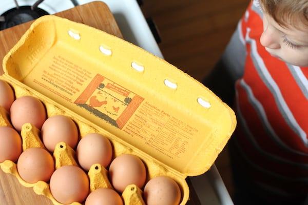 free range eggs for pizza