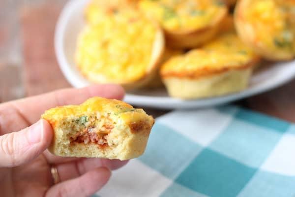 mini gluten-free breakfast pizza