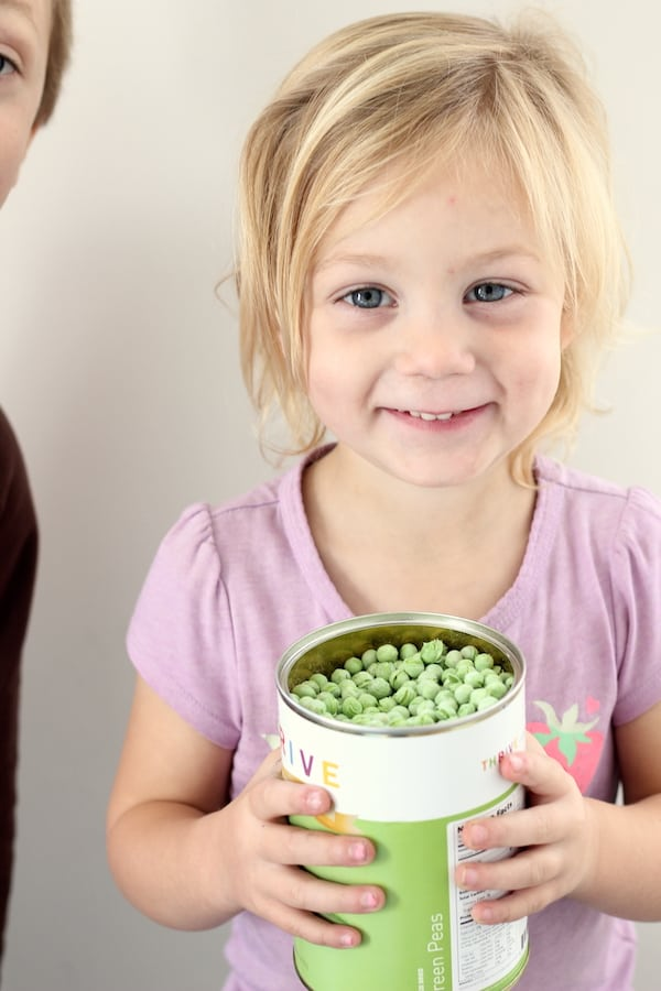 dassah with can of peas