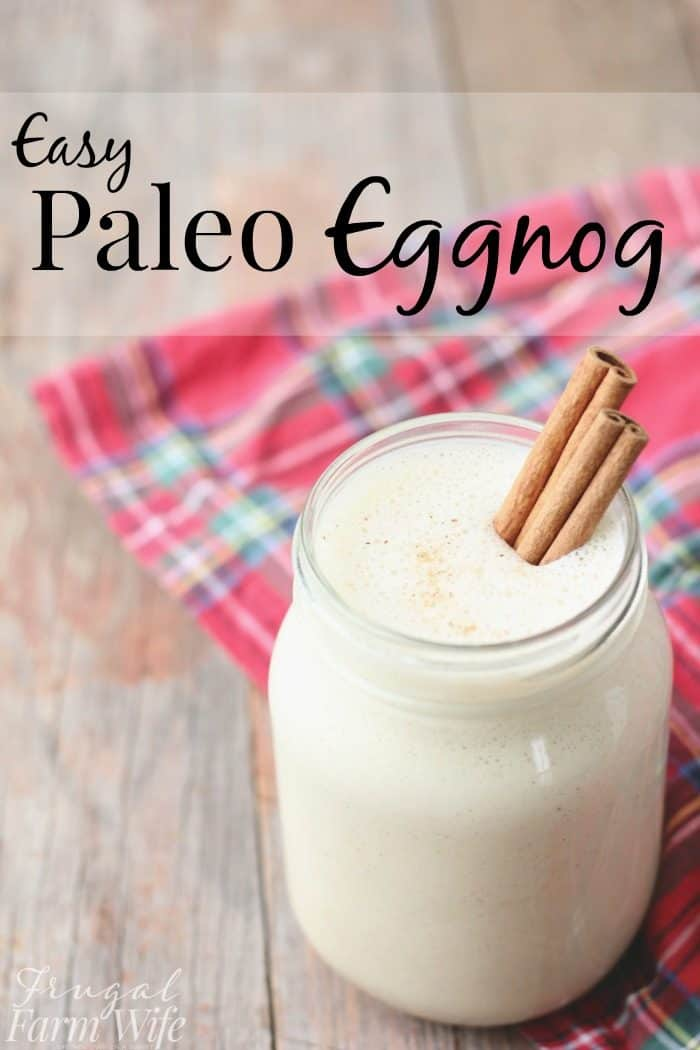 This easy paleo eggnog recipe makes your favorite holiday treat healthy!
