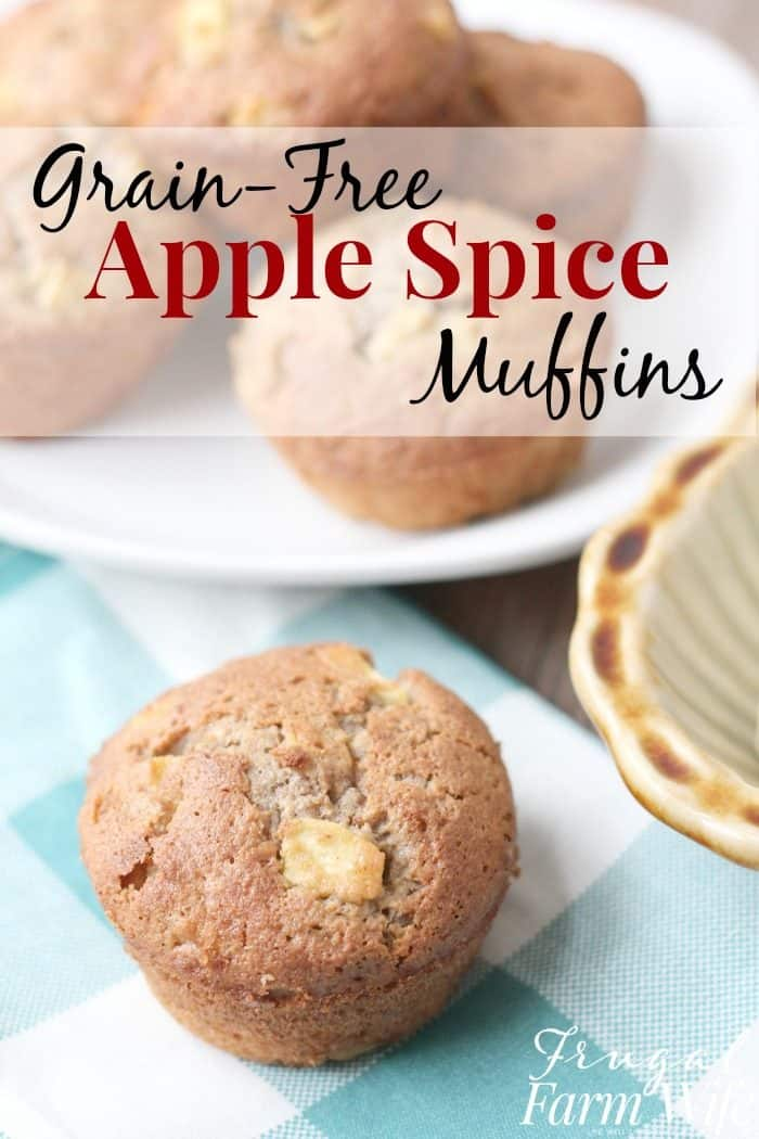 These grain-free apple cinnamon-spice muffins are perfect for a warm breakfast on a cold morning!