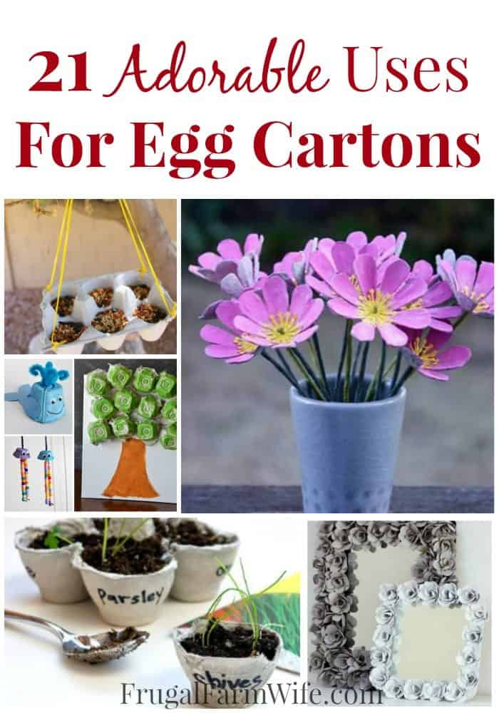 Uses for egg cartons - never let your egg cartons go to waste with these adorable egg carton uses!