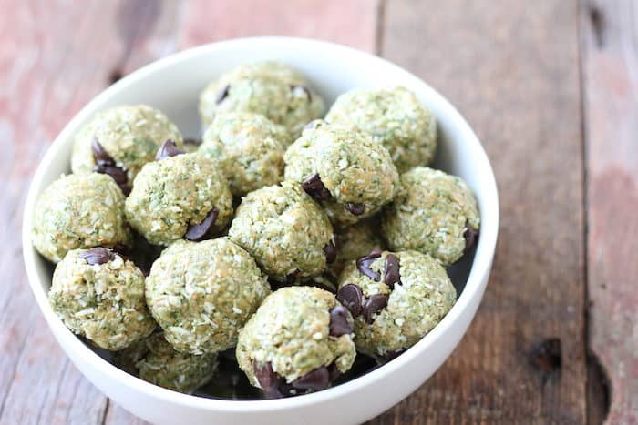 no-bake green power bites