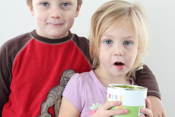 kids with thrive peas