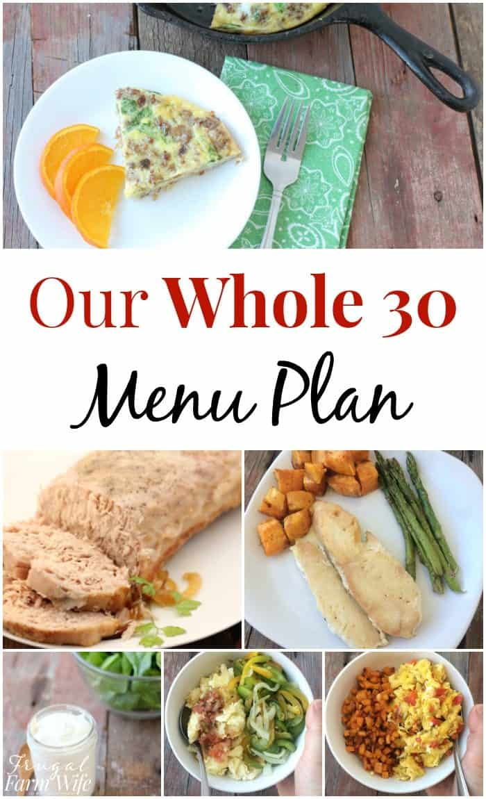 our whole-30 menu plan with printables!