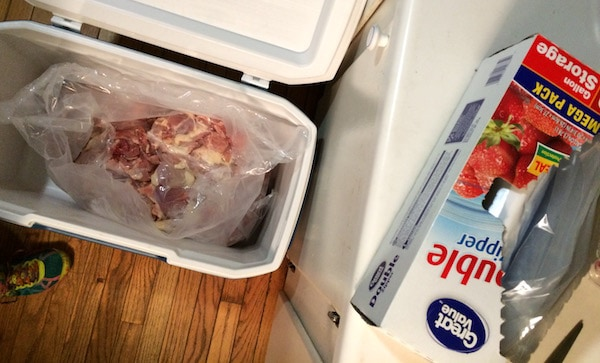 Whole30 Week 3 Meal Plan and Grocery List: chicken in a cooler