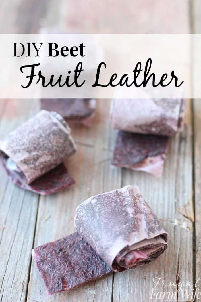 This beet fruit leather recipe looks great! I think I can get my kids to eat beets this way!