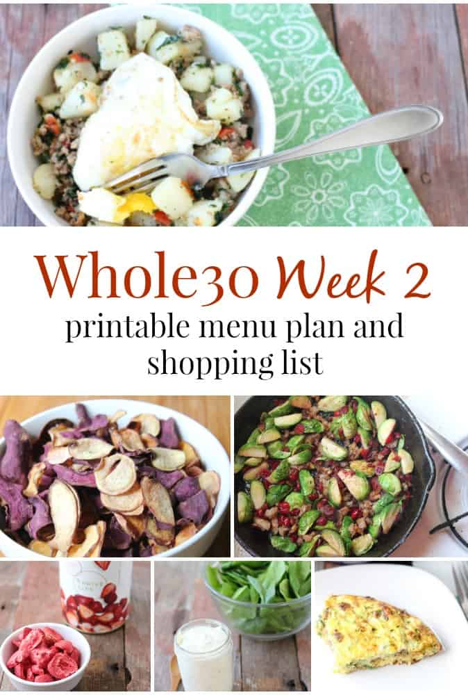 Week 2 Whole30 menu plan and shopping list