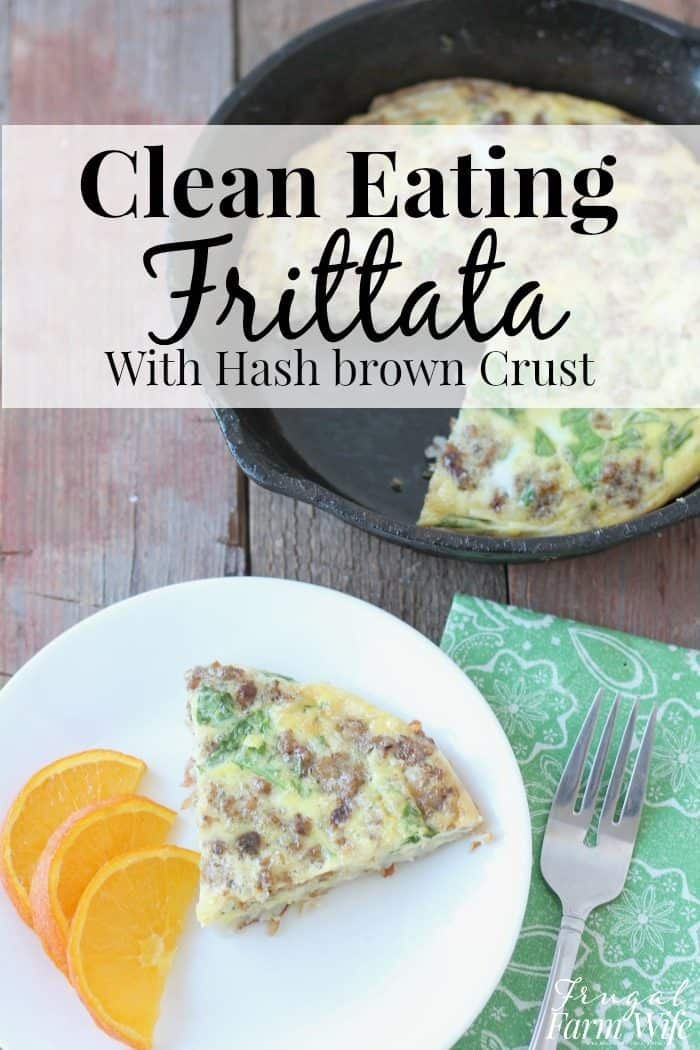 Clean eating breakfast frittata - so good and gluten-free! Even my kids loved this spinach breakfast frittata!