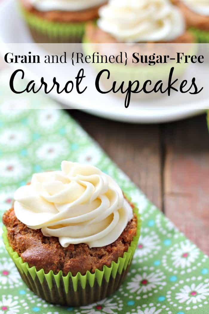 Looking for a springtime treat? These gluten-free carrot cupcakes are grains and refined sugar-free too!