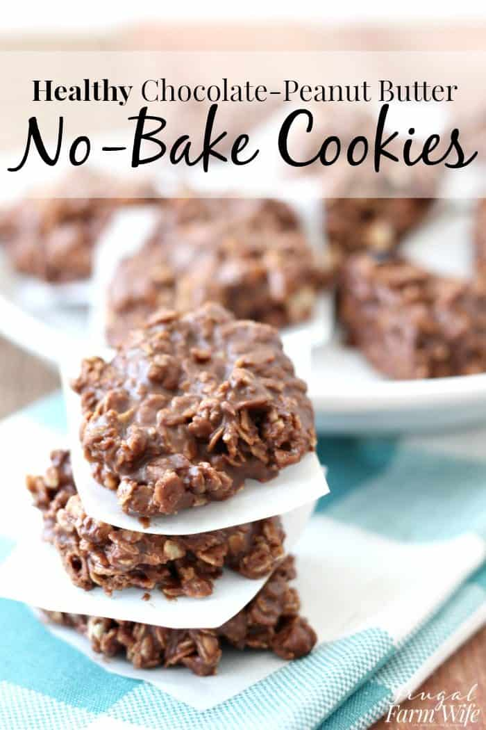 Healthy No-Bake Chocolate-Peanut Butter Cookies are so easy to make!