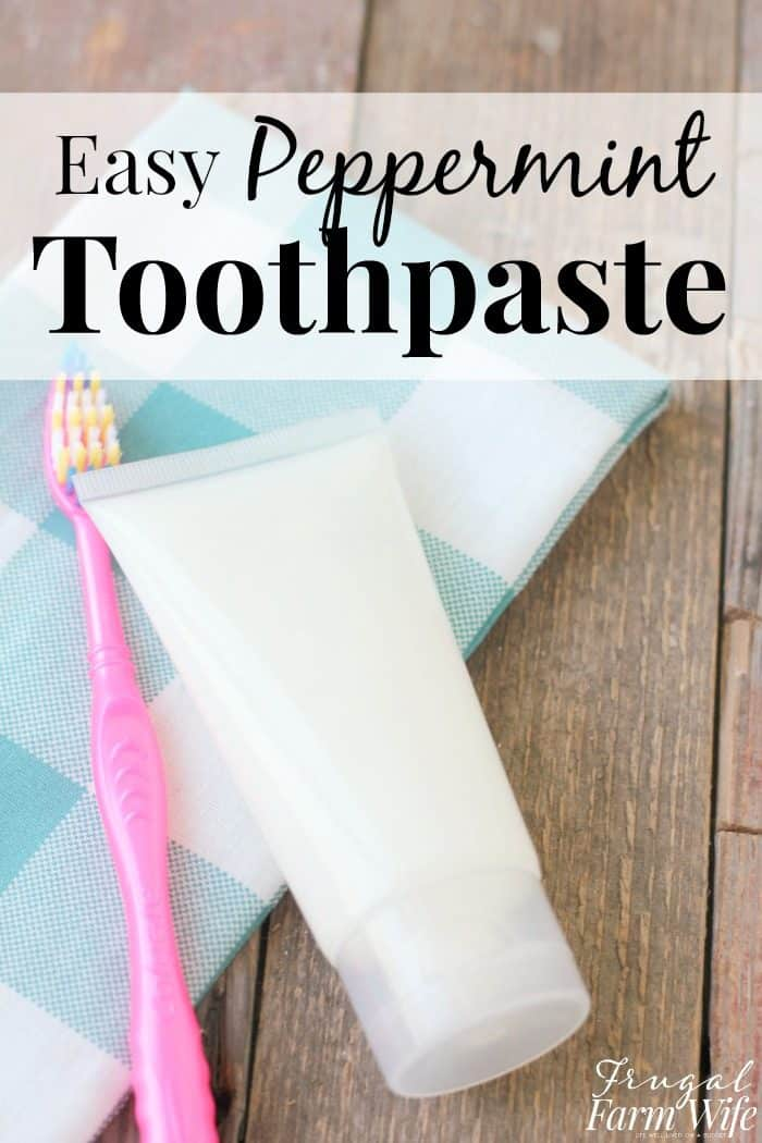 This homemade peppermint toothpaste is so easy to make and leaves your mouth feeling incredibly fresh!