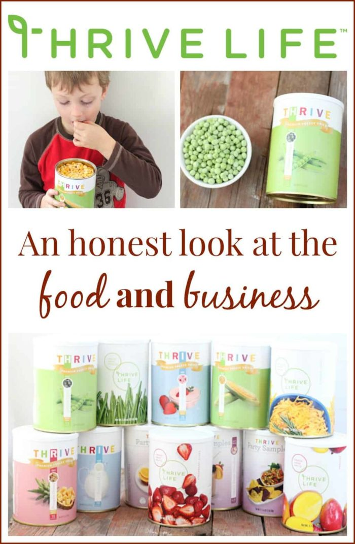An honest look at the food and business opportunity of Thrive life