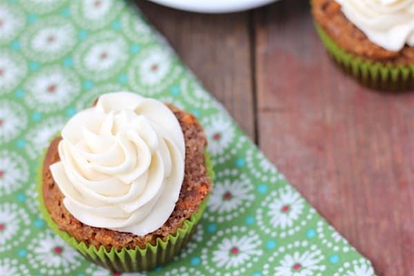 sugar-free carrot cupcakes