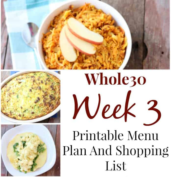 our whole30 week 3 experience