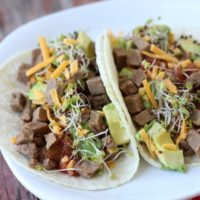 5 Minute Beef Tacos