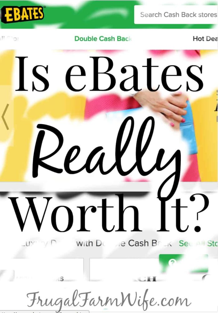 My Honest Review Of EBates?! Read this! bargain shopping | save money | frugal