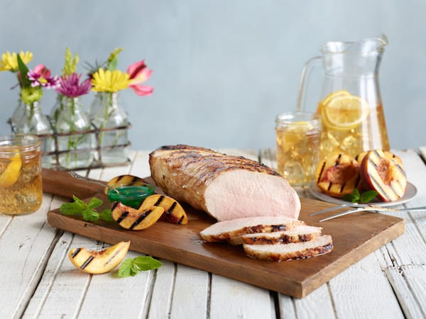 grilled marinated pork loin
