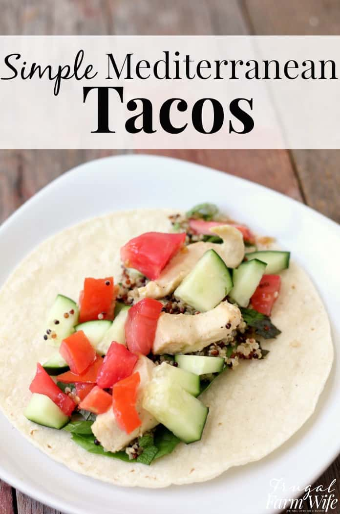 These simple Mediterranean-style tacos are a crowd pleaser, with a delicious, cool crunch that's perfect for summer!