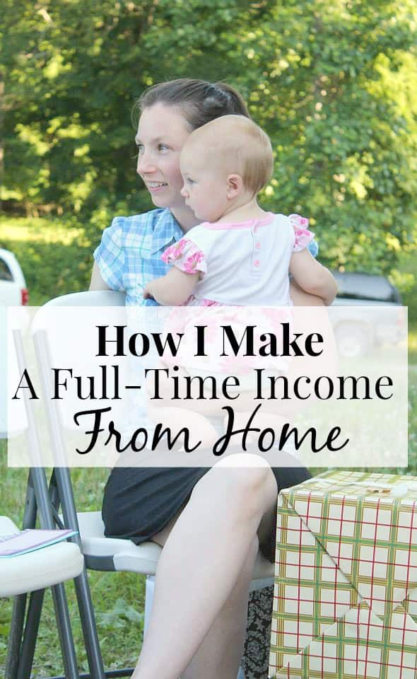 Make A Full-Time Income Working From Home! This blogger totally makes it work - so inspiring!