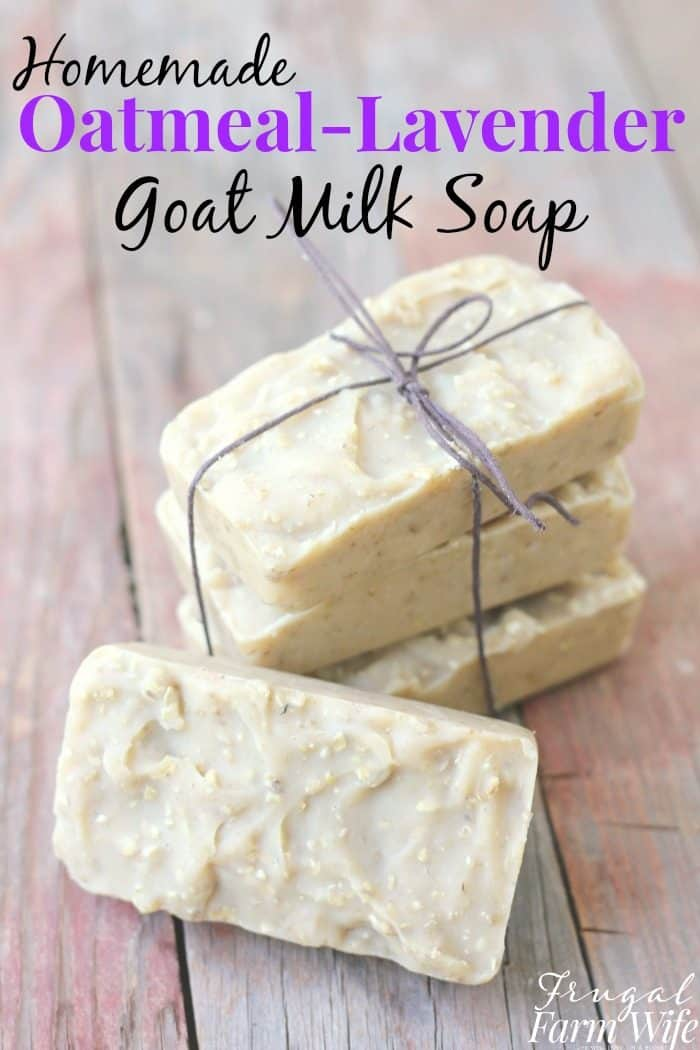 Oatmeal Lavender Goat milk Soap | The
