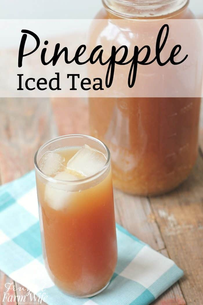 this easy pineapple iced tea recipe will hit the spot on a hot summer day!