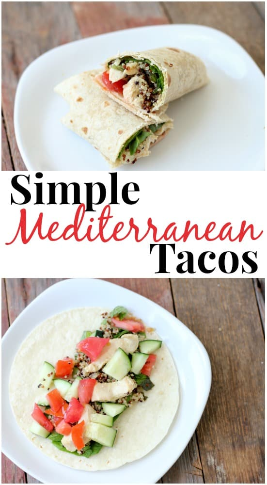 these simple mediterranean tacos are perfect for hot summer days, and so easy to make!