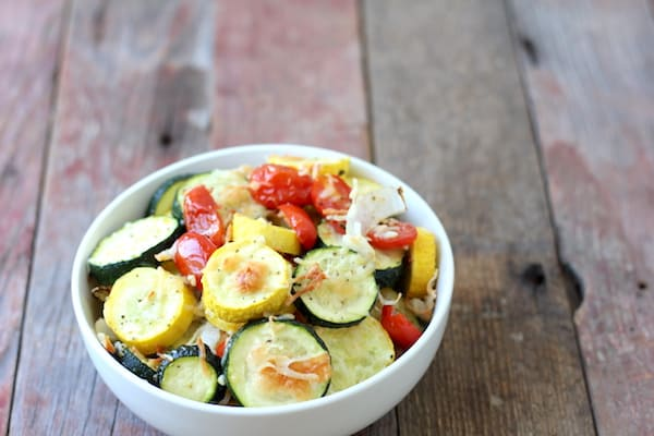 garlic-parmesan roasted veggies