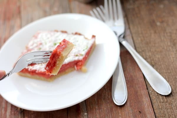 recipe for strawberry-lime bars