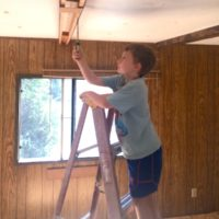 Our Mobile Home Project Update: Floors and Ceilings