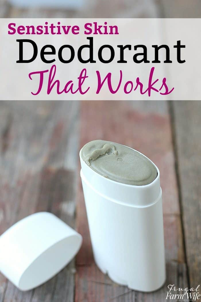 DIY deodorant for sensitive skin