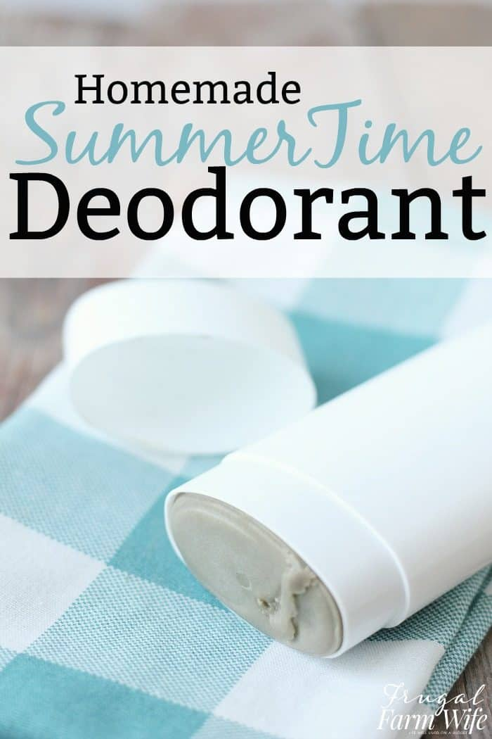 This Homemade Deodorant Recipe is baking soda free!