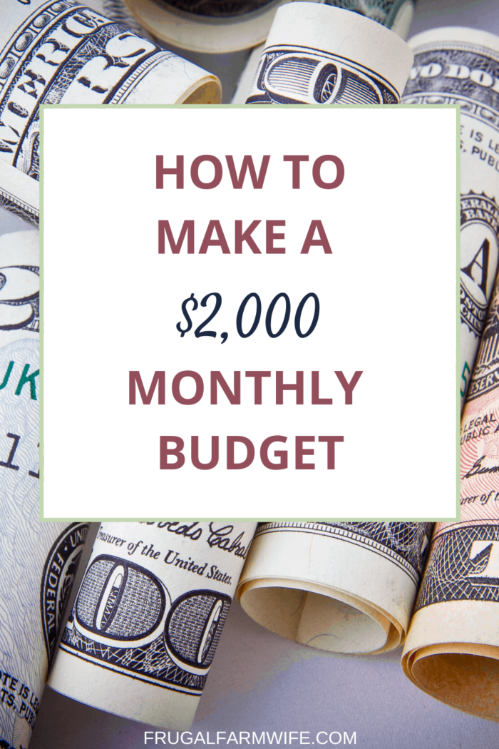 a detailed plan for How to live on $2,000 a month