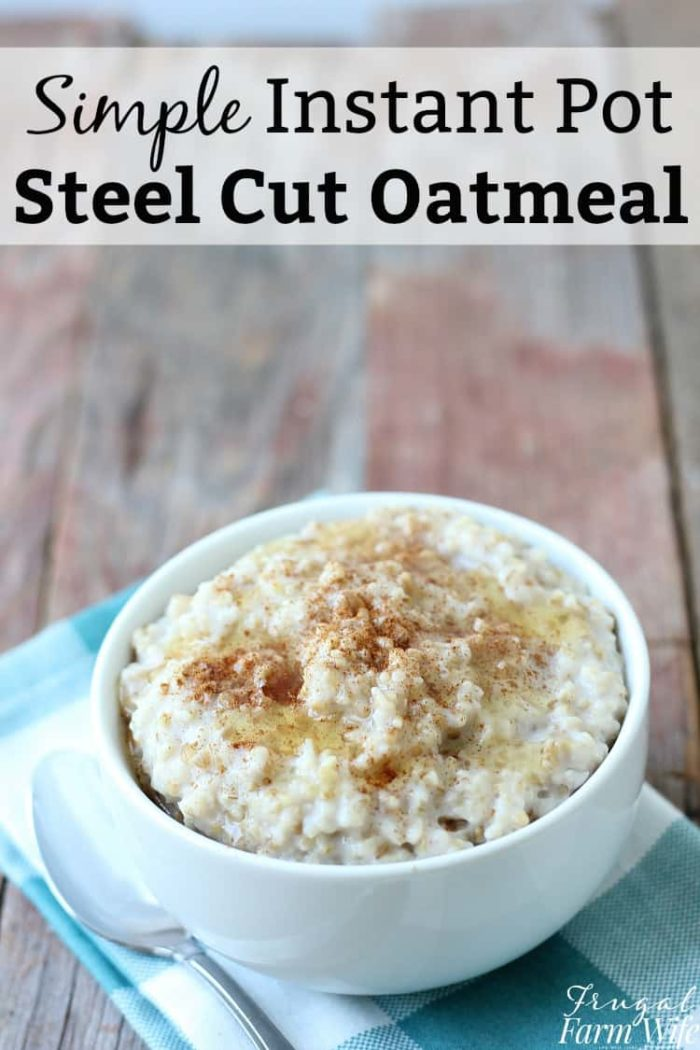 If you're all about simple, but yummy breakfasts, this simple instant pot steel cut oatmeal is right up your alley!